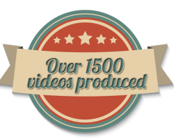 over 1500 videos produced