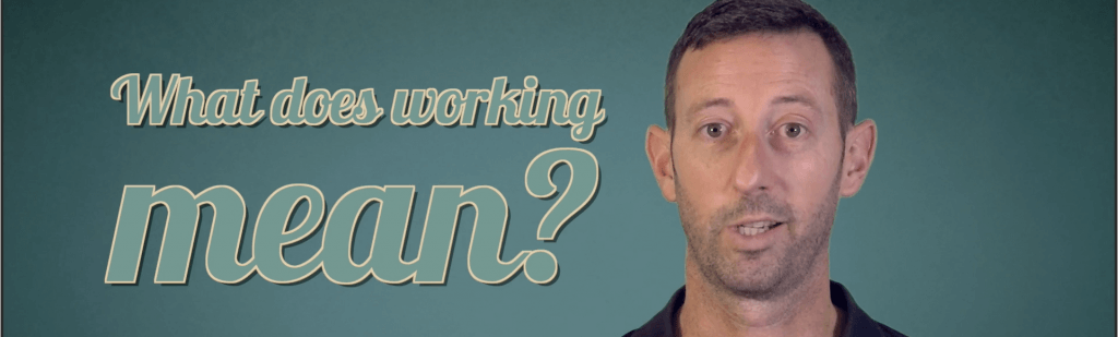 what does working mean