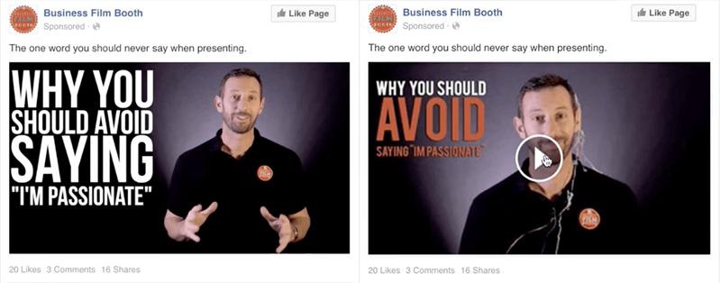 cheap Facebook video advert