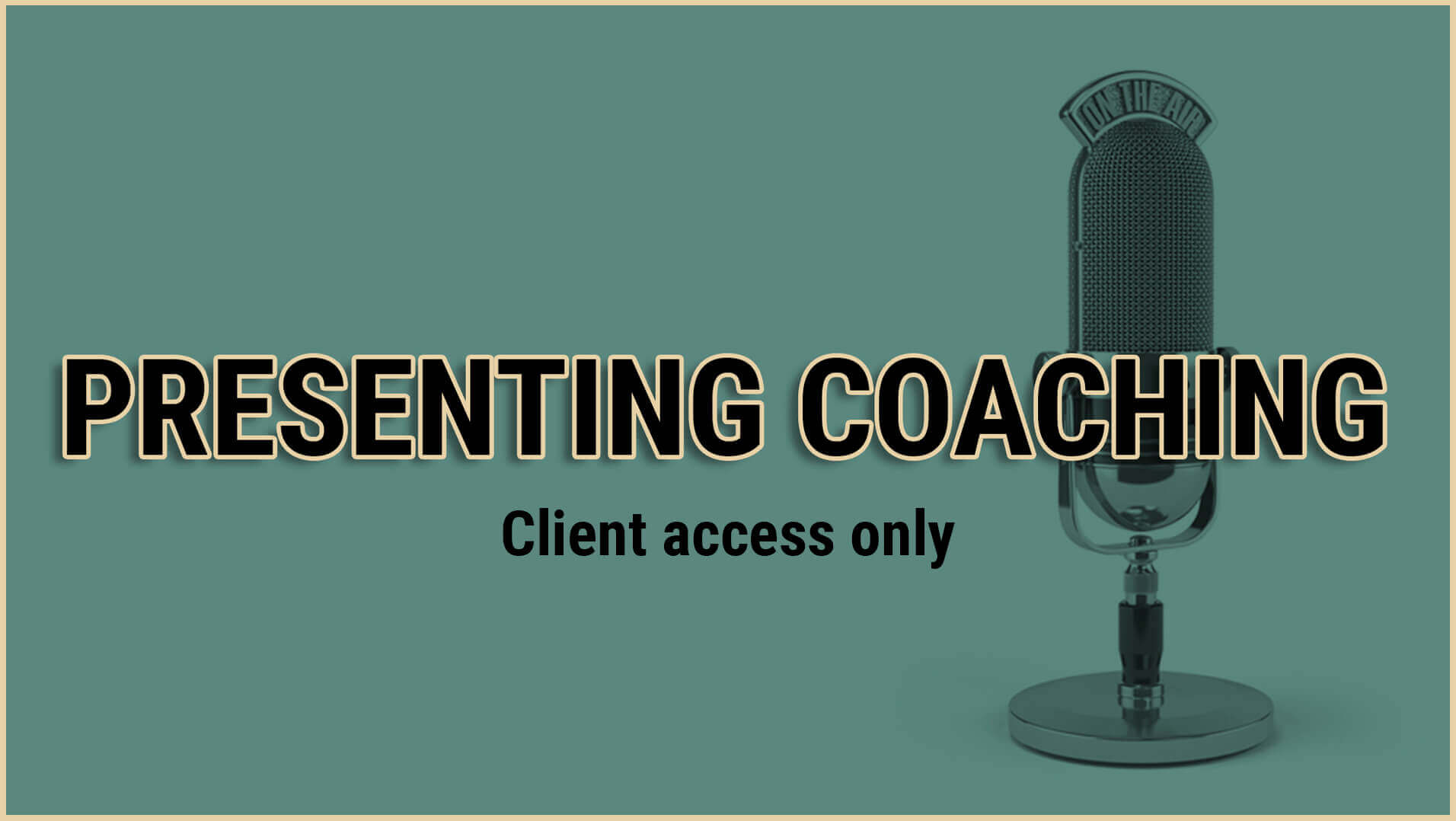 presenting coaching