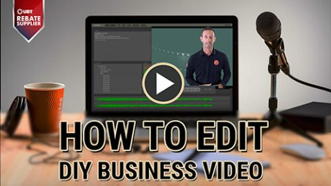 how to edit diy business video small
