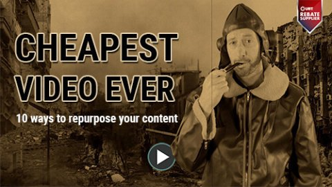 repourpose content - cheap video