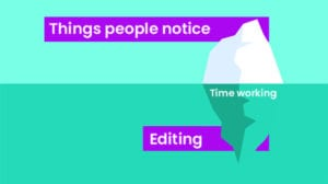 How to hire a video editor - the iceberg