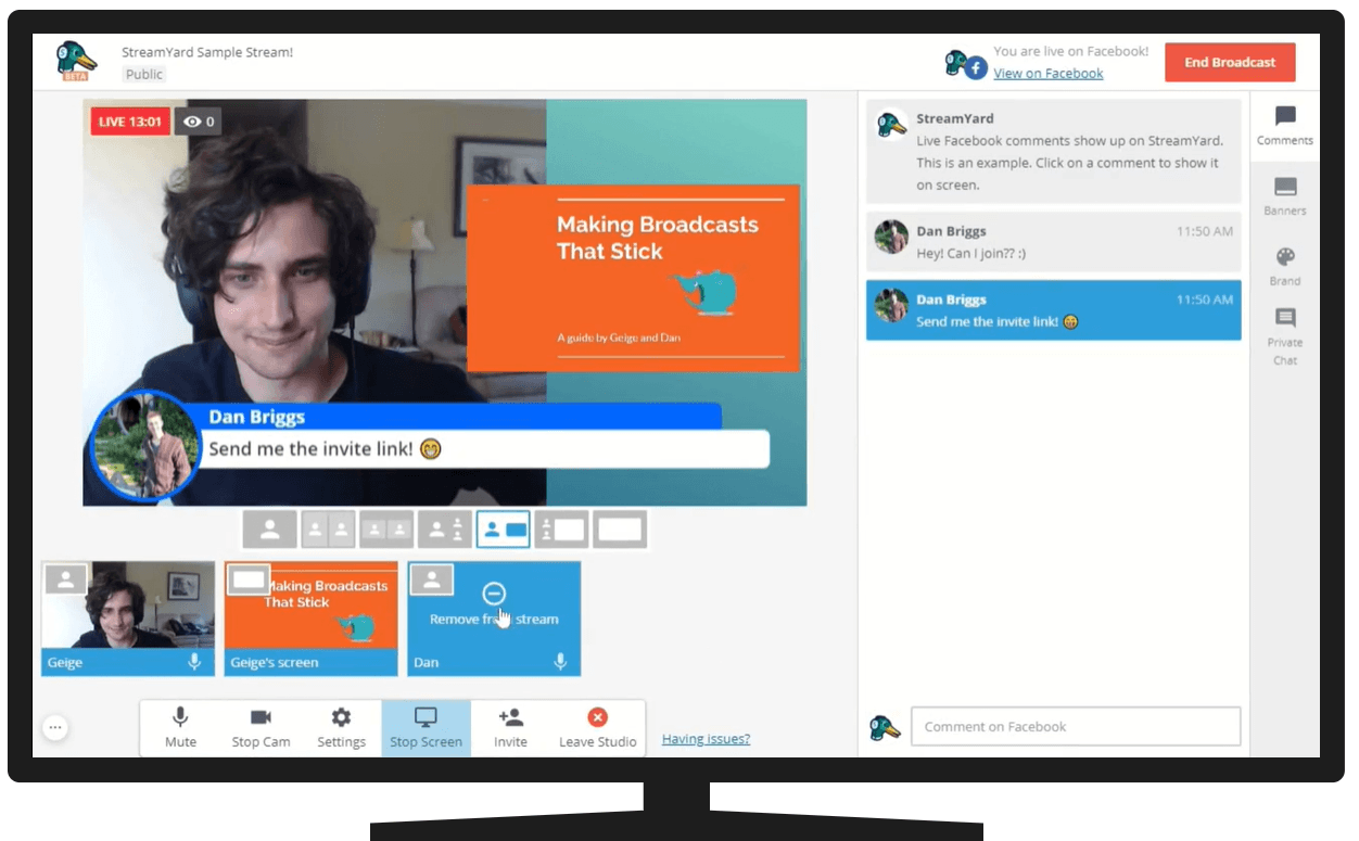 STREAMYARD- The best live streaming software for businesses